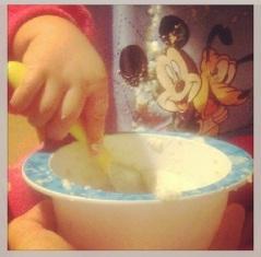 Baby stirring