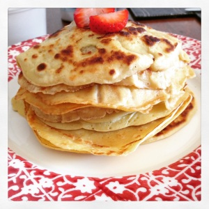 Pancakes using coconut milk