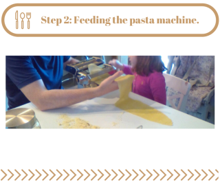 Step 2- Feeding the pasta machine