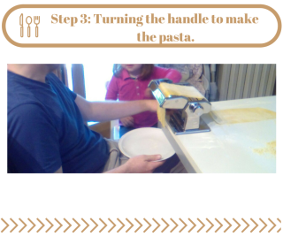 Step 3- Turning the pasta handle